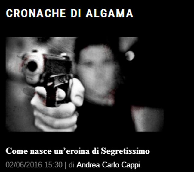 Cronache di Algama su IlgiornaleOFF: l'eroina di Segretissimo