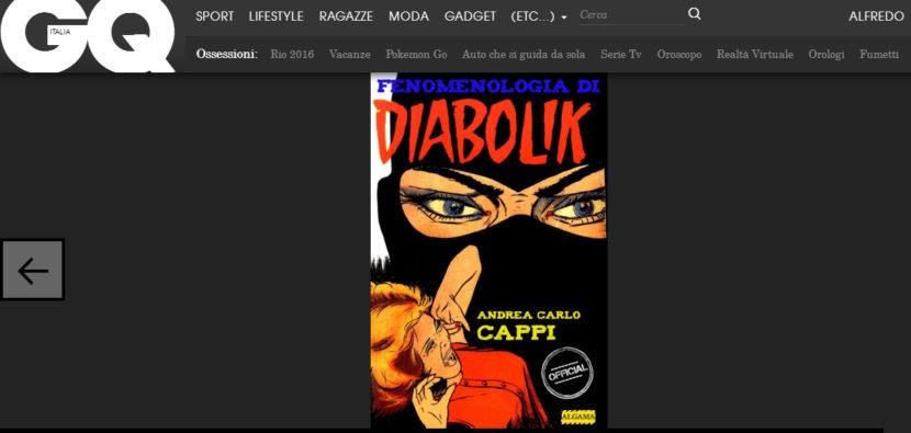 Andrea Carlo Cappi racconta l'ebook Fenomenologia di Diabolik su GQ!