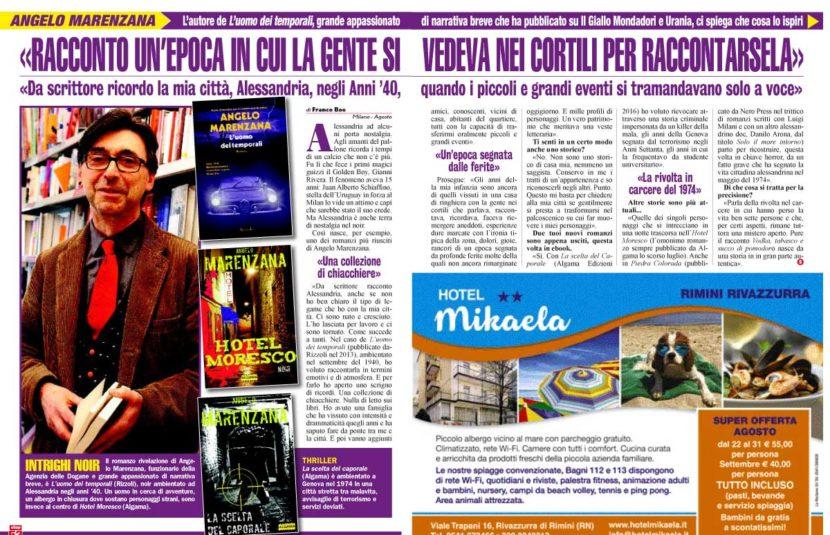 Intervista ad Angelo Marenzana per Hotel Moresco