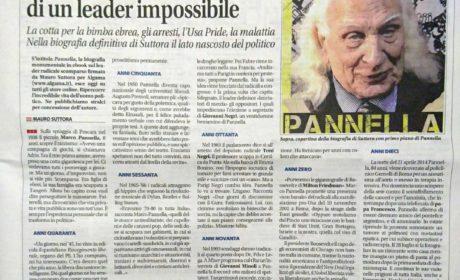 La pagina di Libero dedicata alla biografia di Pannella