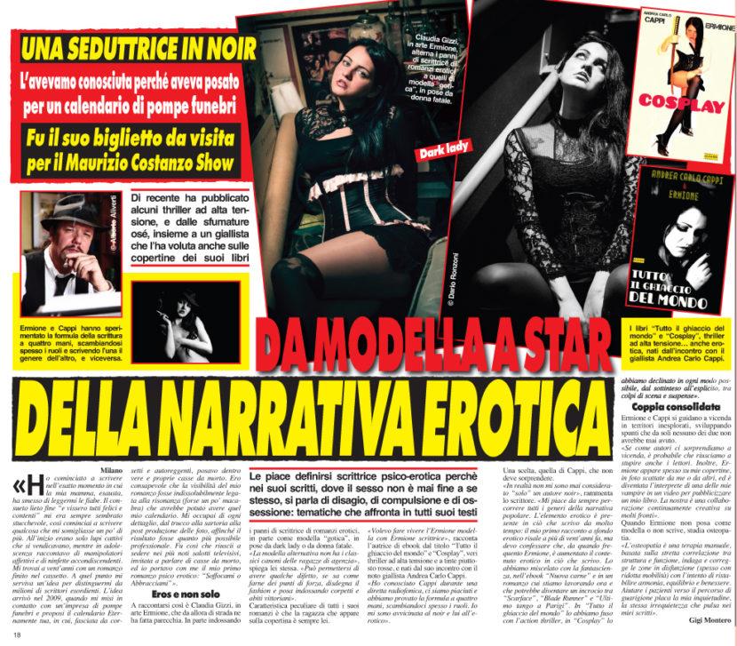 Cronaca Vera intervista Ermione per il thriller erotico Cosplay