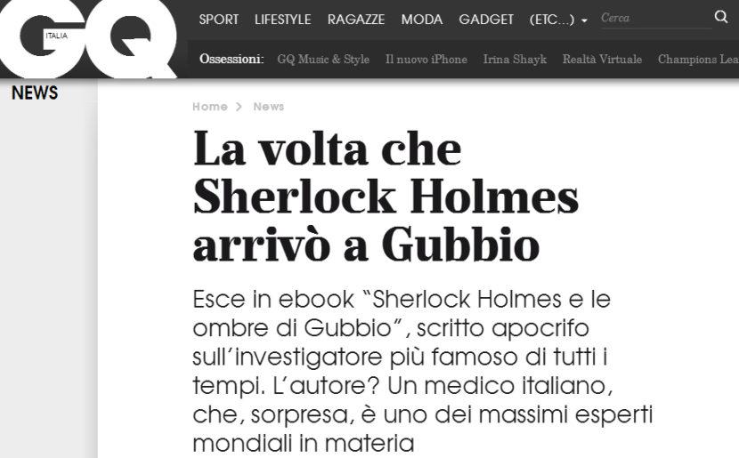 Sherlock Holmes e le ombre di Gubbio su GQ!