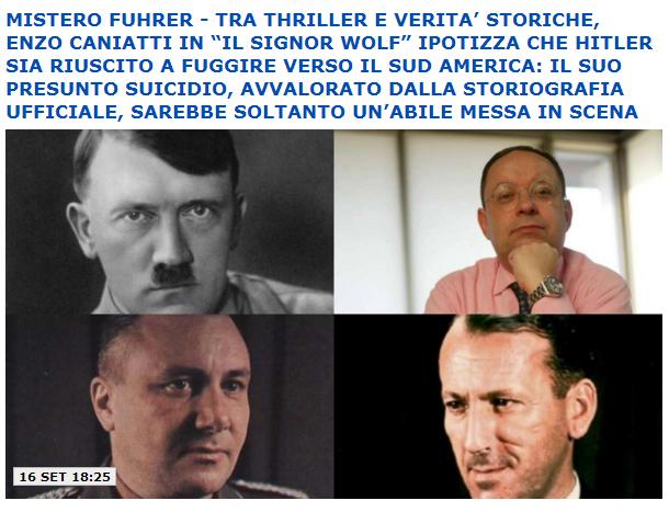 Il giornale e Dagospia su Il Signor Wolf, il thriller Algama su Hitler