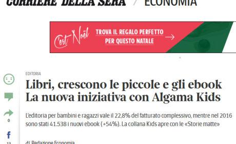 Il Corriere della Sera lancia Algama Kids, la nostra nuova collana di ebook per l'infanzia