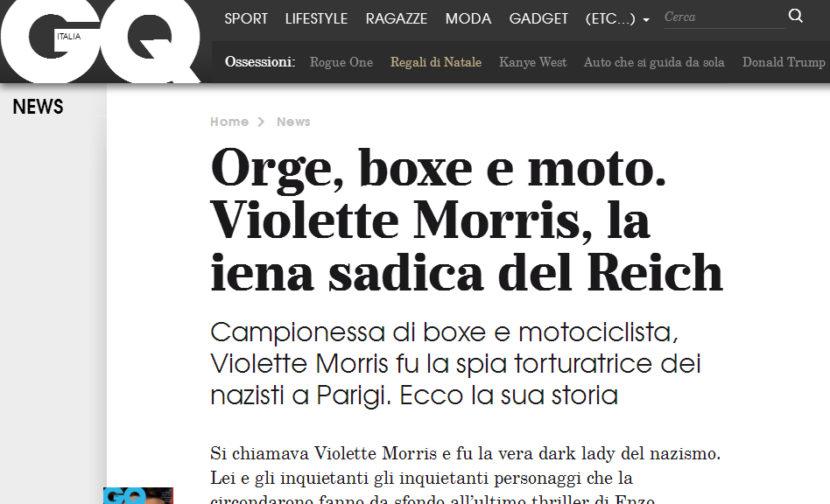 """Enzo Caniatti racconta su GQ come nasce il suo thriller """"Madame Gestapo"""""""