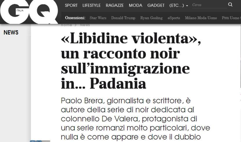 Sul sito di Gq in esclusiva un racconto di Paolo Brera