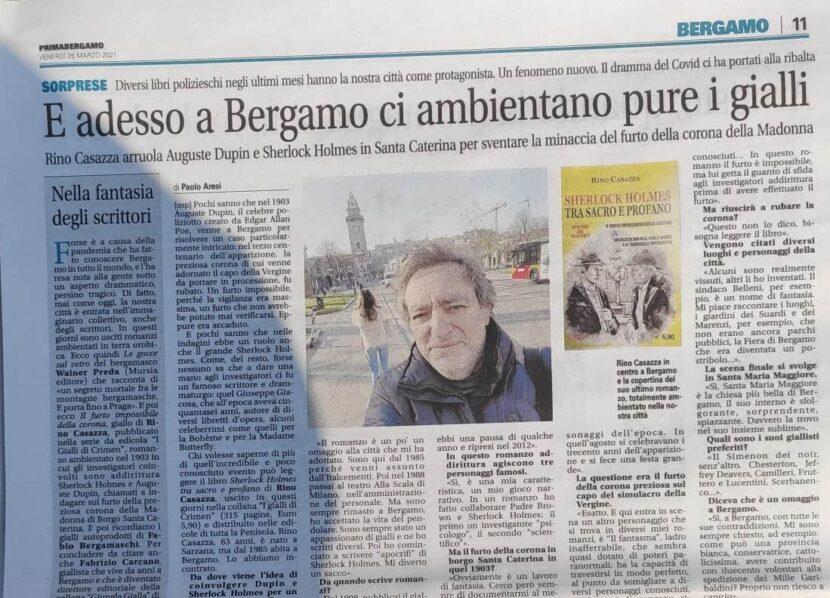 """Primabergamo intervista Rino Casazza: """"Così ho portato Sherlock Holmes in Italia"""""""